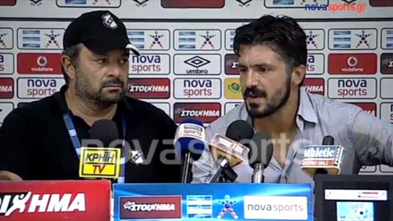 ¡Stop! Gennaro Gattuso se enfureció con la prensa griega