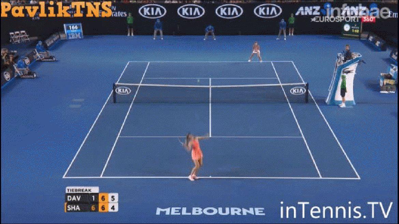 Roger Federer quedó asombrado por el punto de María Sharapova