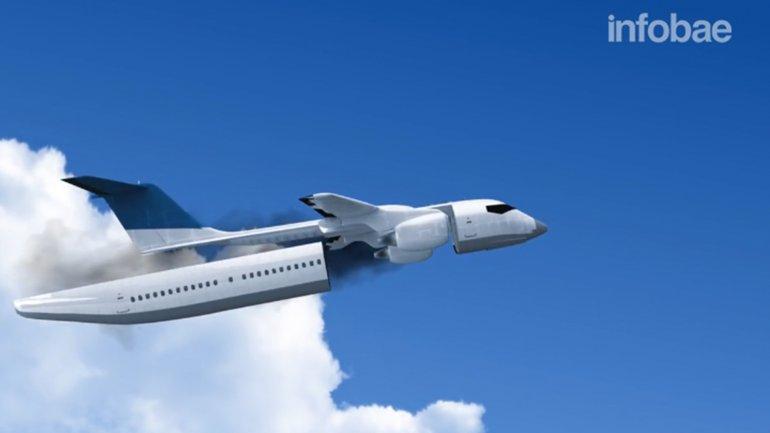 Un ingeniero ucraniano diseñó un avión en que la cabina de pasajeros se convierte en una cápsula eyectable