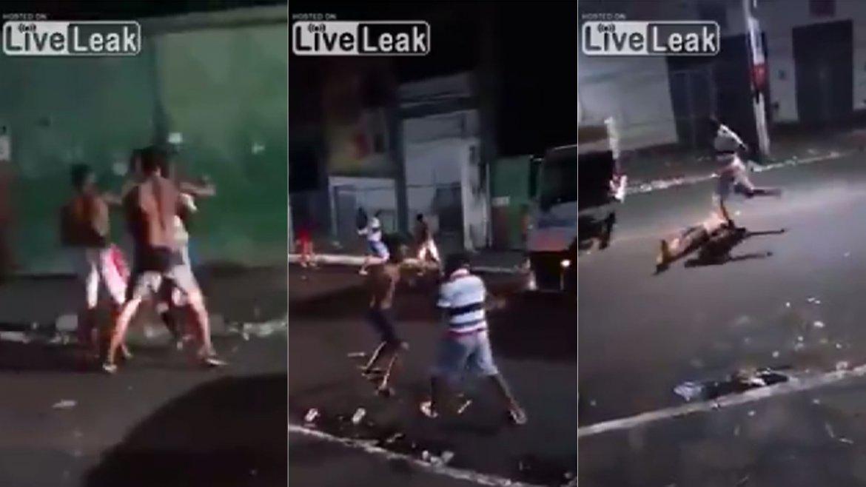 Una pelea callejera en Río de Janeiro terminó con un muerto
