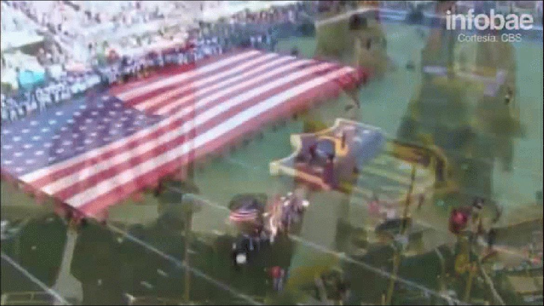 Lady Gaga cantó el himno de Estados Unidos en el Super Bowl