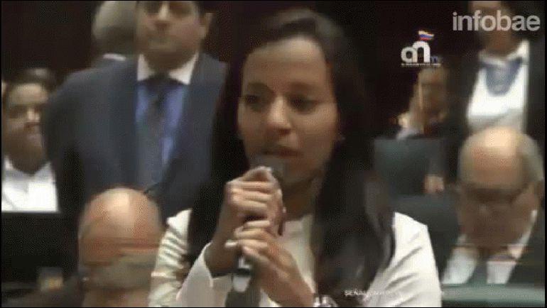 Marialbert Ramos conmovió a los parlamentarios opositores