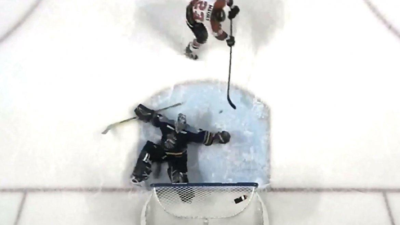 La tapada de Jeff Lerg que sorprendió en el hockey sobre hielo de Estados Unidos