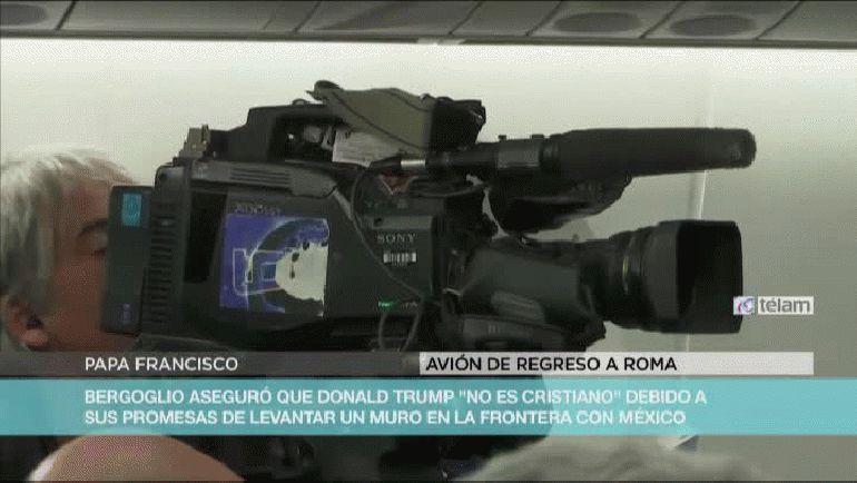 El papa Francisco habló sobre Donald Trump en el vuelo de México a Roma