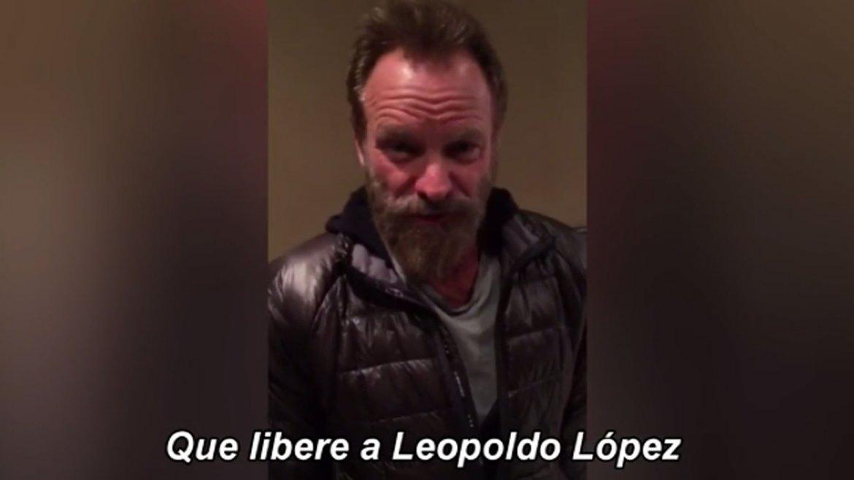Sting pidió la liberación de Leopoldo López y los demás presos políticos del chavismo.