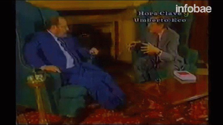 Entrevista a Umberto Eco, programa Hora Clave conducido por el periodista Mariano Grondona, 22 de junio de 1994