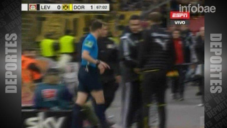 El cotejo se reanudó a los 10 minutos y fue victoria para el Borussia Dortmund por 1 a 0
