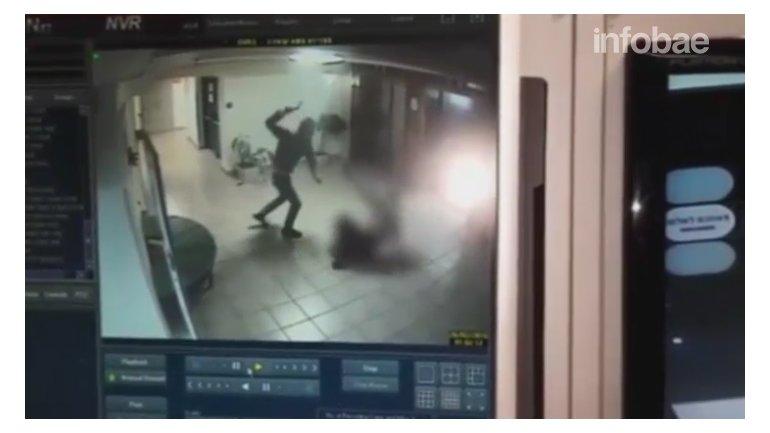 Las cámaras registraron el ataque palestino