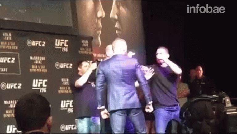 Conor McGregor y Nate Diaz estuvieron cerca de pelear arriba del escenario