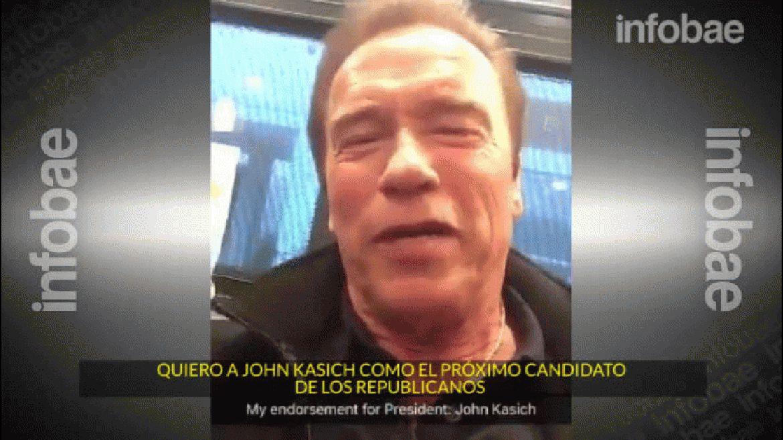Arnold Schwarzenegger grabó un video junto al precandidato John Kasich