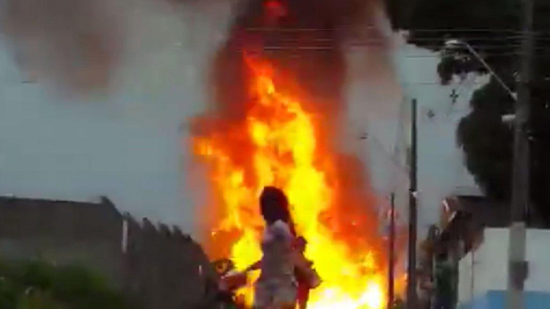 La fuerte explosión obligó a decenas de personas a evacuar la zona