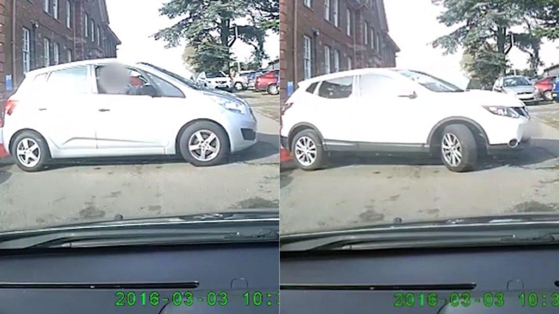 El intento de estacionamiento de los dos conductores en Inglaterra