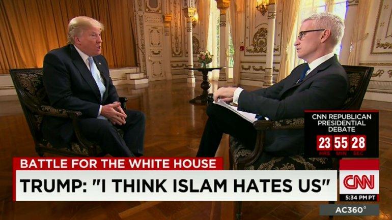 Anderson Cooper entrevista a Donald Trump