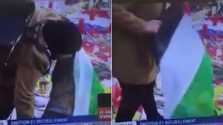 El video que muestra el episodio fue registrado por la TV francesa