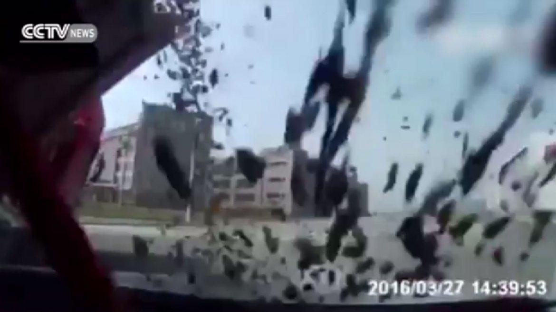 El momento del choque, que terminó siendo fatal